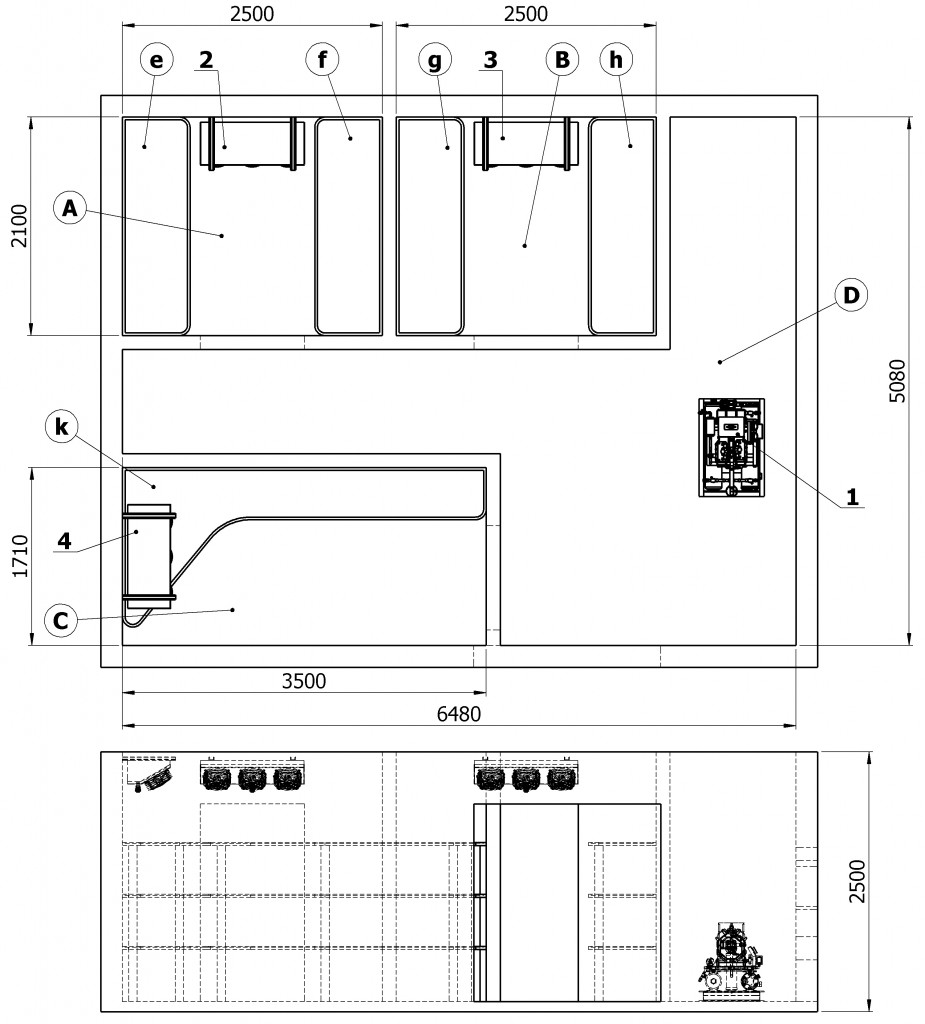 Compartment-layout-and-location-of-main-equipment-of-refrigeration-unit