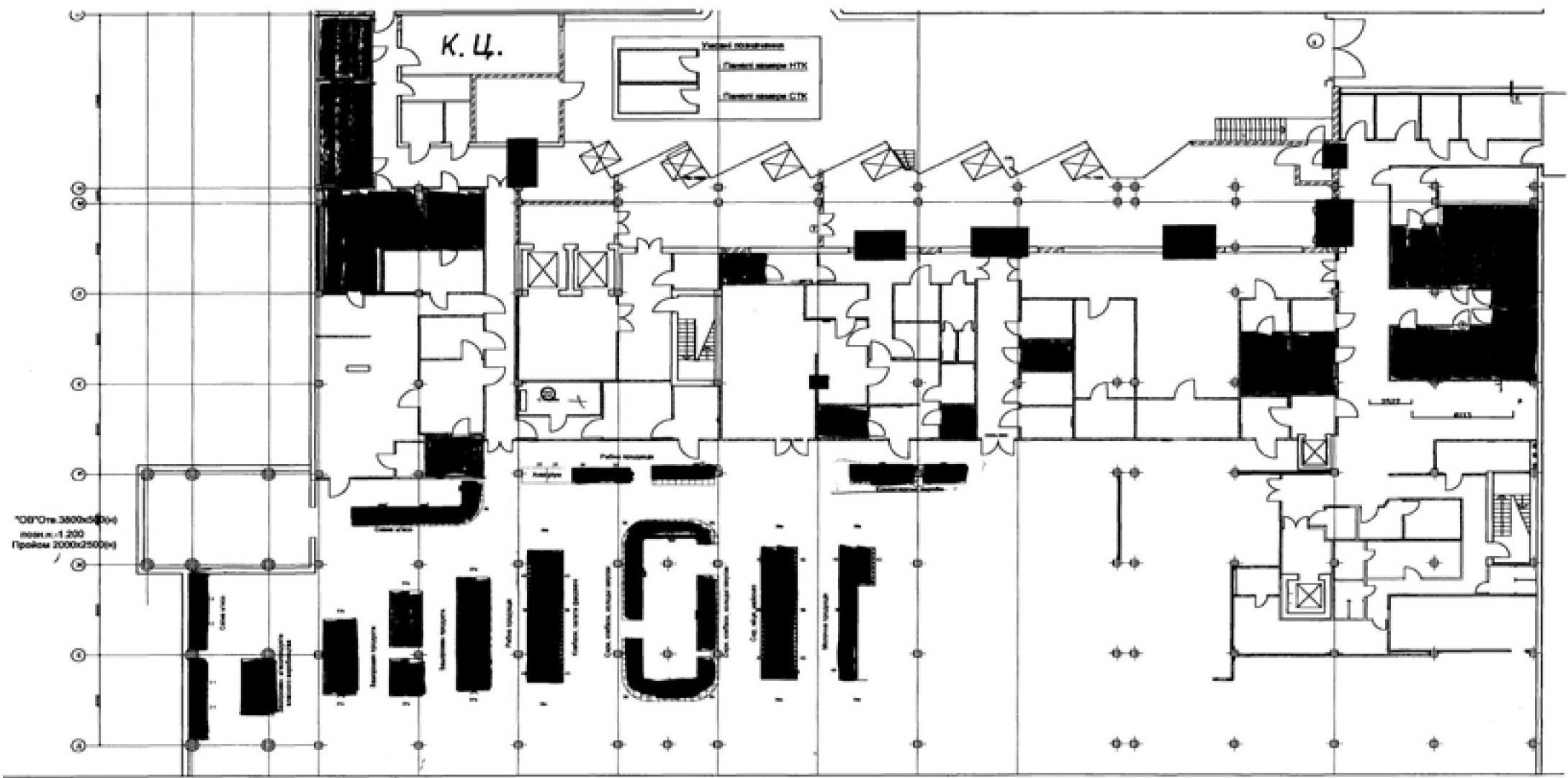 Рис. 2. Пример планировочного решения крупного супермаркета