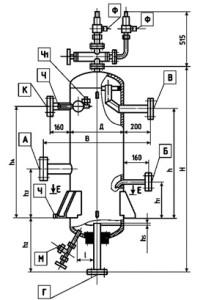 Отделитель жидкости. Схема