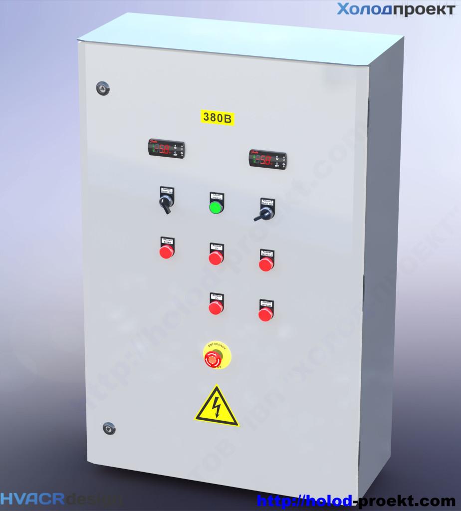 Рисунок 1. Щит управления холодильной установки, 3D модель