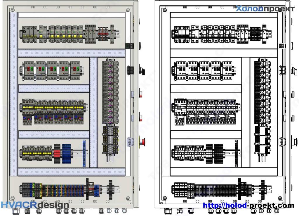 Рисунок 1 – Устройство щита управления. Расположение элементов